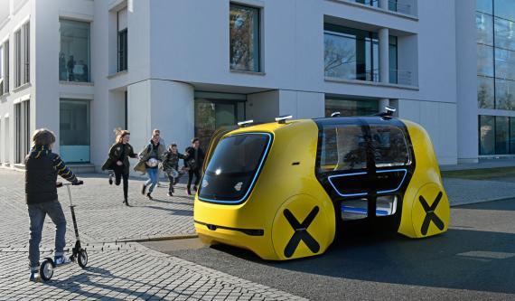 Sedric es el taxi robot que Volkswagen presentó en 2017.