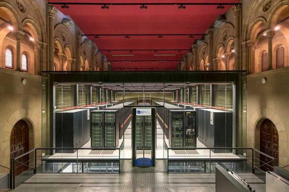 Interior del Barcelona Supercomputing Center