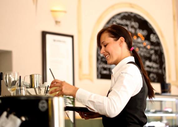 camarera, cafetería