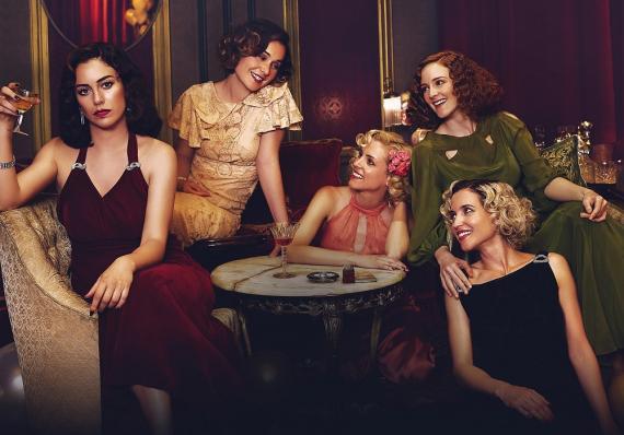 Un fotograma de la serie Las chicas del cable.