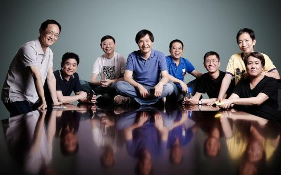 Los cofundadores de Xiaomi, con Lei Jun al frente, en una fotografía de archivo.