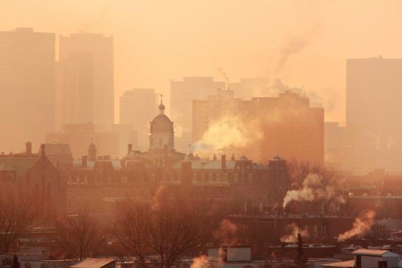 contaminación, ciudad contaminada