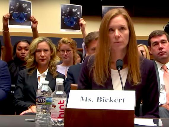 Facebook's Monika Bickert gives evidence to the House Judiciary Committee.