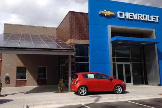Concesionario de Chevrolet en EEUU.
