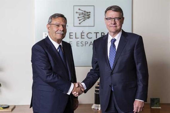 José Folgado y su sucesor en el cargo Jordi Sevilla