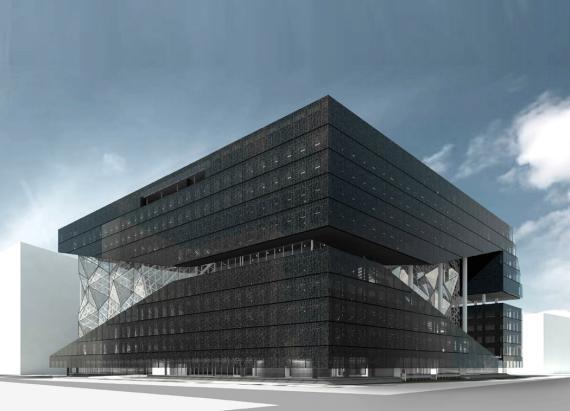 La nueva sede de Axel Springer en Berlín, actualmente en construcción.