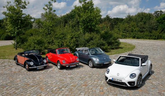 Todas las generaciones del Volkswagen Beetle.