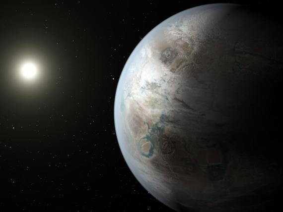 Ilustración artística del exoplaneta Kepler-452b.