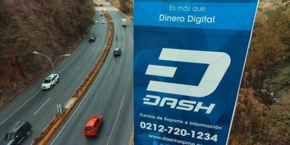 Un cartel publicitario de Dash en Venezuela.