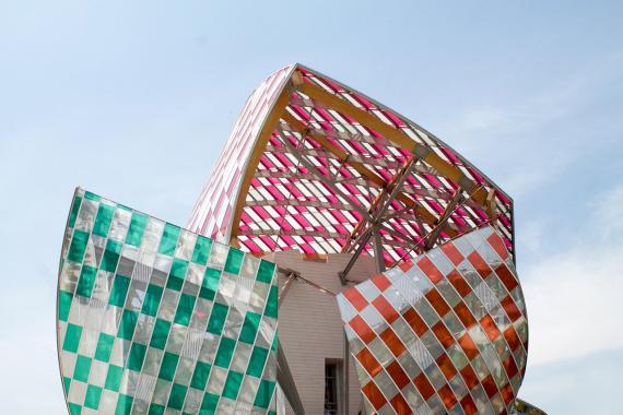 Una imagen del edificio de la Fundación Louis Vuitton.