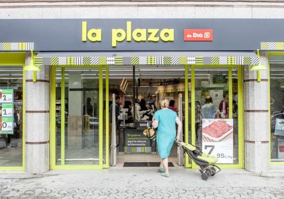 Un supermercado La Plaza del grupo DIA.