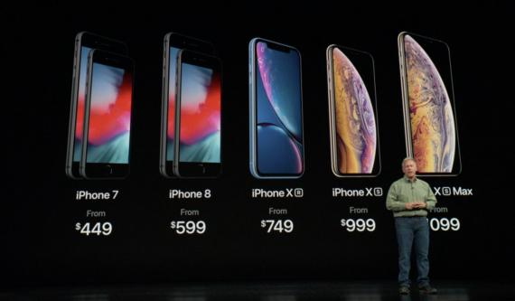 La gama de iPhones lanzada en 2018