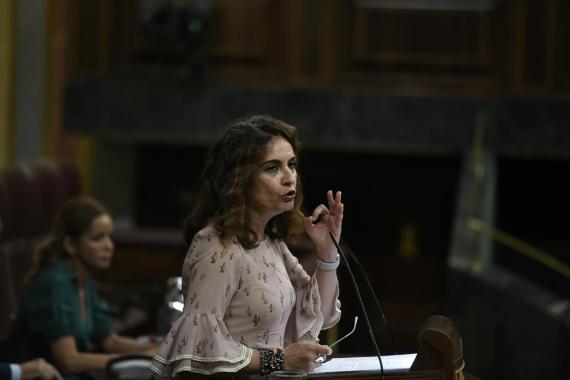 María Jesús Montero, ministra de Hacienda, en el Congreso