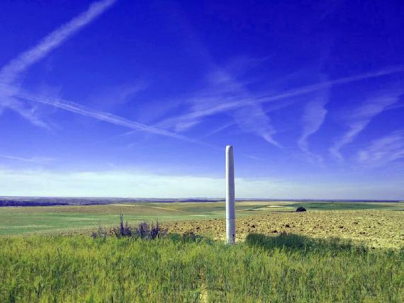 El molino de viento sin aspas de Vortex en Ávila