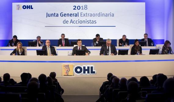 Reunión de la junta general extraordinaria de accionistas de OHL en junio de 2018