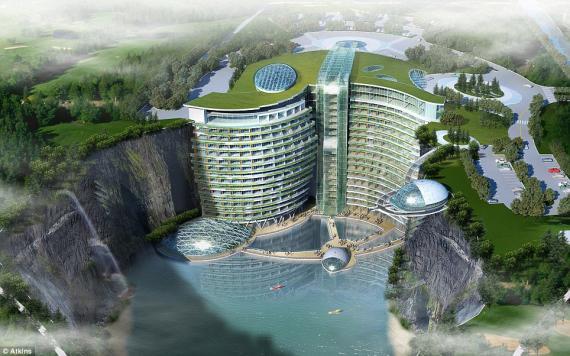 Imagen digital de cómo quedará el hotel.
