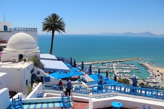Una zona hotelera de Túnez