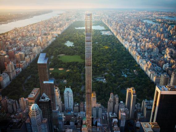 Hay apartamientos disponibles en el rascacielos más estrecho del mundo