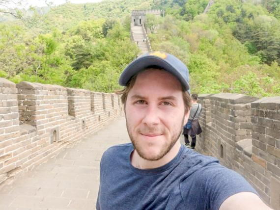 The author at the Great Wall of China.