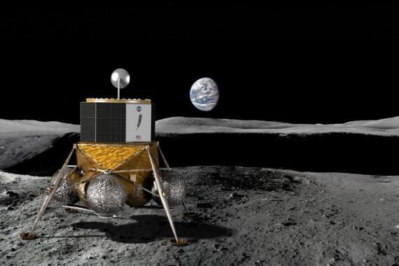 """Blue Moon es un concepto para un """"gran módulo de aterrizaje lunar"""" que la compañía aeroespacial de Jeff Bezos, Blue Origin, planea construir y lanzar."""