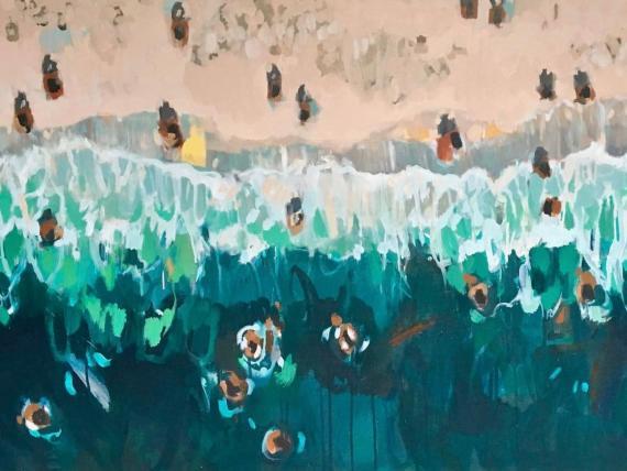 """""""Emerald Shoreline"""", por Nina Brooke."""