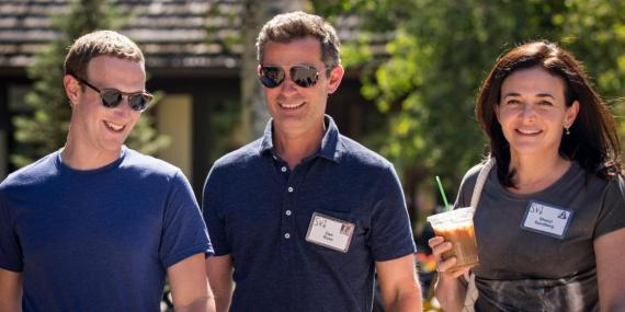 Facebook executives at the annual Allen & Company Sun Valley Conference in July.