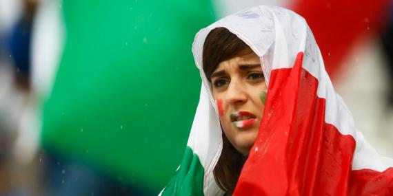 Italy fan before the match.