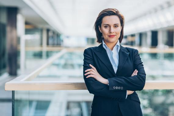 Mujer directiva ejecutiva
