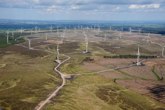 Parque eólico de Whitelee, en EscociaParque eólico de Whitelee, en Escocia