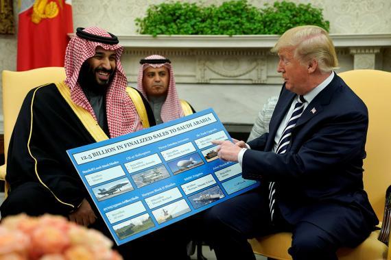 Reunión de Trump con príncipe heredero de Arabia Saudí