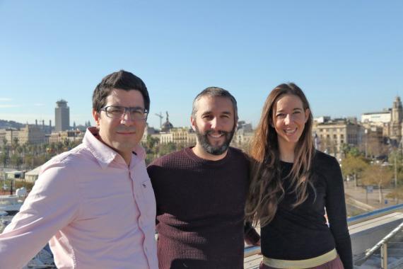 De izquierda a derecha: Ferran Nogué, Oriol Vila y Carlota Pi.