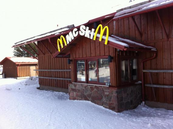 Sweden has a ski-up McDonald's in one of its resorts.