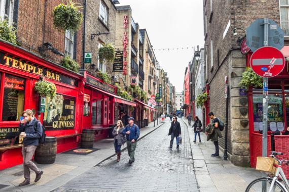Temple Bar en Dublín. Irlanda.