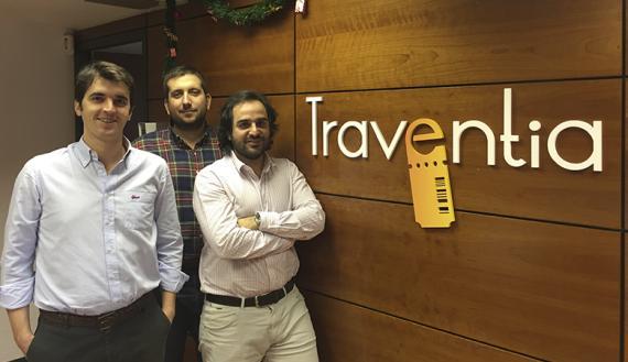 Juan Ávila Alonso,  Ignacio Guillén Gómez y david Robledo, socios fundadores de Traventia.