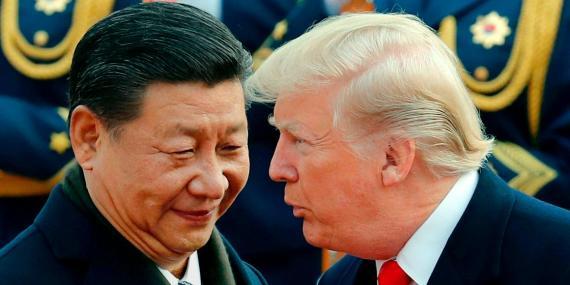 El presidente chino Xi Jinping y el de EE.UU. Donald Trump.