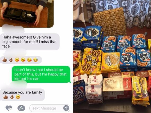 Mark Chalifoux envió 18 kilos de galletas a un completo desconocido tras se añadido accidentalmente a un chat grupal