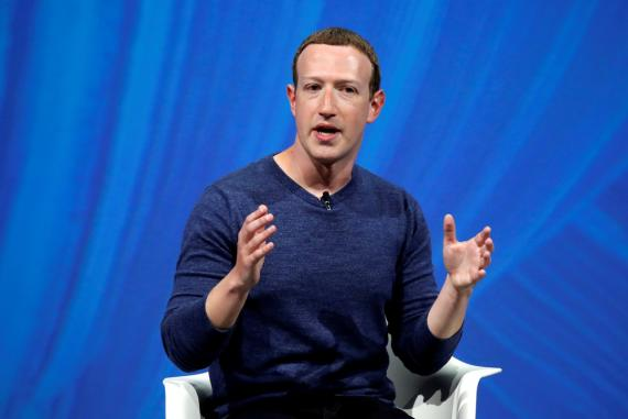 Mark Zuckerberg, CEO de Facebook, en una conferencia en Francia.