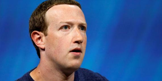 Mark Zuckerberg, CEO of Facebook, whose ad tool was down for much of Tuesday.