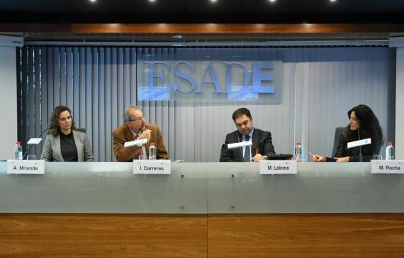 De izquierda a derecha: Alejandra Miranda, Ignasi Carreras, M. Laloma y María Rocha