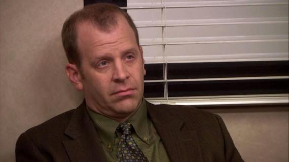 "Toby Flenderson from NBC's ""The Office."""