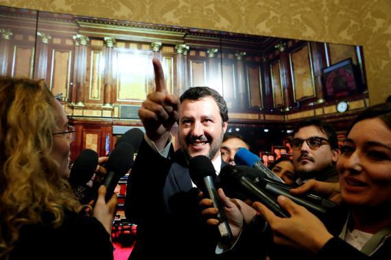 El vicepresidente italiano, Matteo Salvini, de la Liga Norte.