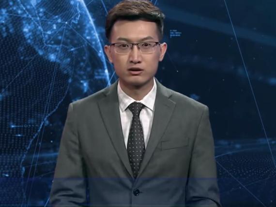 Xinhua's English-language artificial-intelligence anchor.