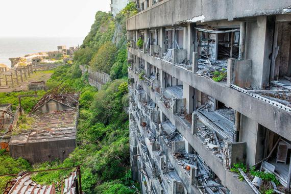 Gukajima, una ciudad abandonada en Japón