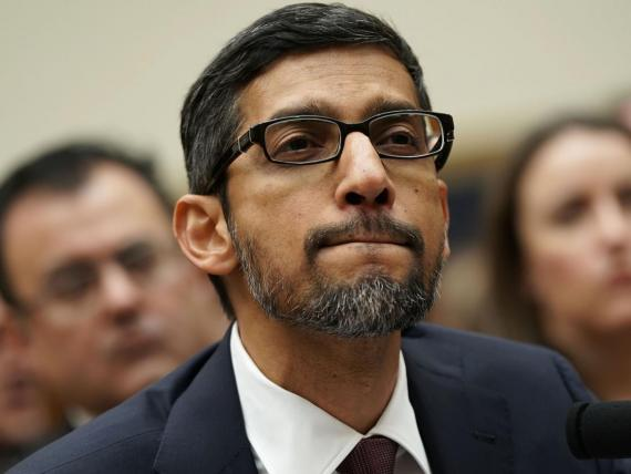 Sundar Pichai testifying to congress in December.