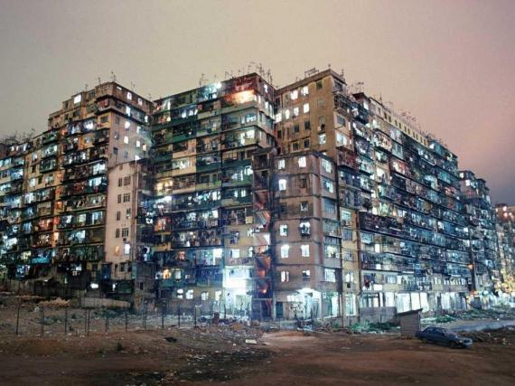 Kowloon Walled City was 119 times as dense as New York City.