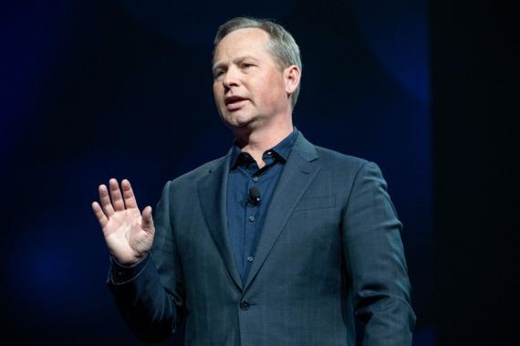 Mark Okerstrom, CEO Expedia Group, durante su intervención en el congreso Explore 2018