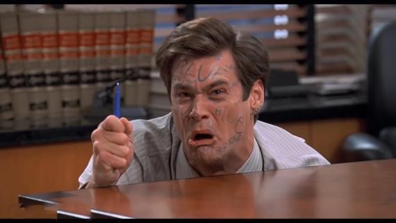 Un fotograma de la película 'Mentiroso compulsivo', que protagoniza Jim Carrey.