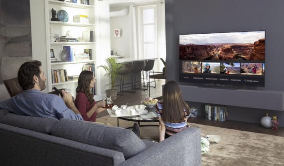 Televisor de LG en el salón