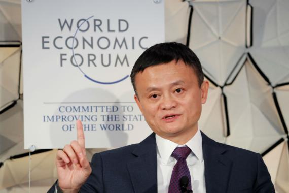 Jack Ma, presidente ejecutivo de Alibaba, en el Foro Económico Mundial de Davos en 2019.