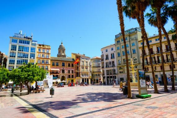 Plaza de la Constitución, Málaga, Andalucía, España